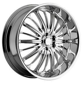 """20"""" Akuza 761 Belle 5x4 5 Acura NSX RSX Chrome Wheels Rims Free Lugs"""