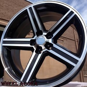 """22"""" inch 22x8 5 IROC Wheels AWD 5x115 38 Chrysler Dodge 300 Magnum Charger"""