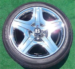 Set 4 Genuine Factory Bentley Chrome Wheels Tires Flying Spur Continental GT
