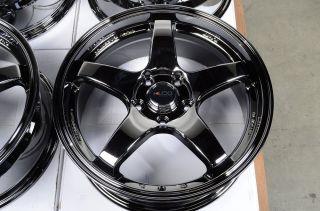 17 5x114 3 Black Chrome Wheels Ford Fusion Taurus Mazda 3 6 626 mazdaspeed Rims