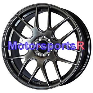 18 18x7 5 XXR 530 Chromium Black Wheels Rims 5x114 3 04 06 Acura TSX RSX Type S