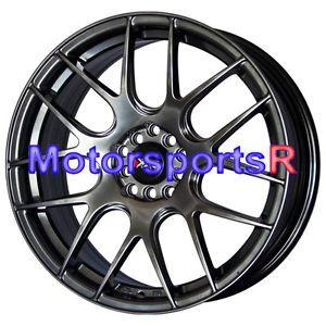 18 18x7 5 XXR 530 Chromium Black Wheels Rims 5x114 3 04 06 Acura TSX RSX Type S