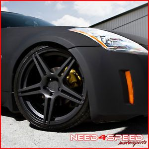 """20"""" Nissan 350Z Incurve IC S5 Matte Black Staggered Rims Wheels"""