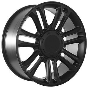 24 inch Cadillac Escalade Matte Black Wheels Rims