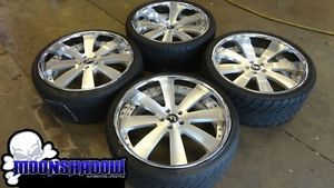 """22"""" Forgiato Otto 3 PC Staggered Wheels Rims Nitto Tires Bentley Audi Mercedes"""