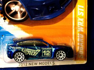 Hot Wheels 2012 Subaru WRX STI Deep Blue Cool Graphics Tuff