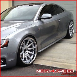 """20"""" Audi A7 Rohana RC10 Concave Silver Staggered Wheels Rims"""