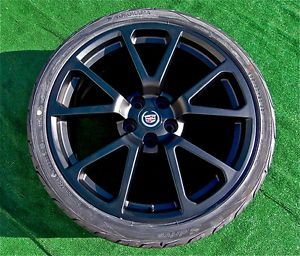 Set Brand New Black GM Factory Look Cadillac CTSV 20 inch Wheels Tires cts V