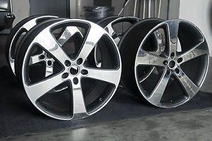 Gemballa Sport 22 inch Wheels Polished Black Fits Porsche Cayenne Audi VW