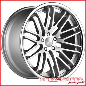 "20"" Infiniti G35 Coupe Stance Evolution Concave Staggered Silver Wheels Rims"
