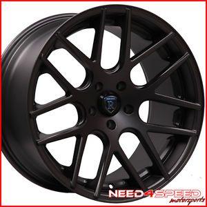 "20"" Nissan Maxima Rohana RC26 Deep Concave Black Staggered Wheels Rims"