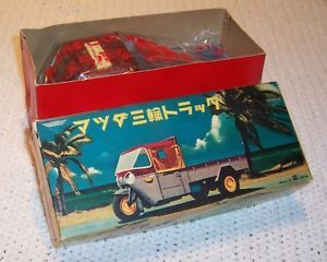 "Mazda Three Wheel Delivery Truck 8 1 2"" Long Made in Japan by Bandai NMIB"