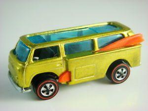 1969 Hot Wheels Volkswagen Beach Bomb Redline 6274 Yellow