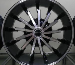 "20"" inch 5x4 5 5x127 Black Machined Wheels Rims 5 Lug Infiniti Dodge Jeep Scion"