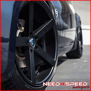 "20"" Nissan 370Z Rohana RC22 Deep Concave Black Staggered Wheels Rims"