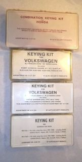 Keying Kit Parts Assortment VW Jaguar European Japanese Cars Locksmith Repair