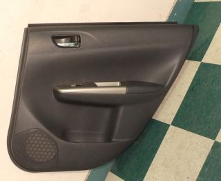 08 12 Subaru Impreza Passenger Right Rear Door Panel Back Interior Trim