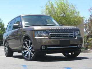 "22"" inch Stormer II Wheels Rims Tire Package Range Rover Sport Black Machined"