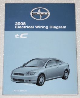 2008 Scion TC Electrical Wiring Diagrams Shop Manual Factory Dealer Service