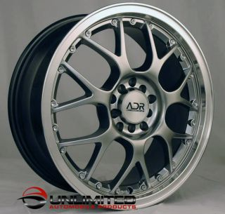 "17"" adr M Sports Style Hyper Black Wheels Rims Fit Mitsubishi Toyota Volvo VW"
