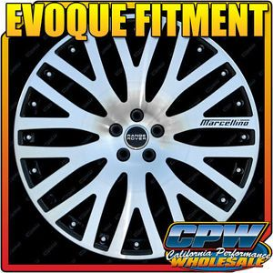 "Four 2012 2013 New Range Rover Evoque 22"" inch Wheels Rims Black Machined Face"