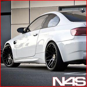 "20"" BMW E90 M3 Vertini Magic Concave Black Staggered Wheels Rims"