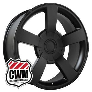 "20x8 5"" Chevy Silverado 1500 SS Style Matte Black Wheels Rims Fit Tahoe 2012"