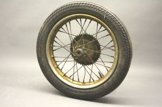 Harley Hummer Model 125 165 Super 10 Pacer 16 inch Rear Wheel Complete