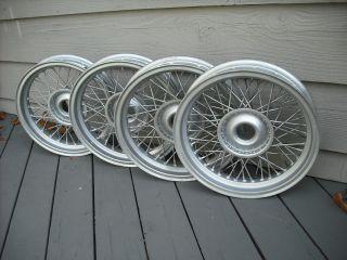 Set of 4 Borrani Wire Wheels 15x2 75 Early 50's Fit Bandini Siata Nardi Scca