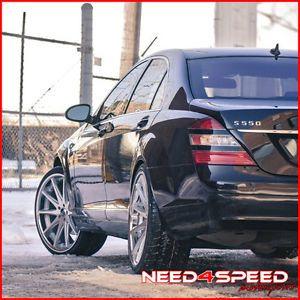 "22"" Mercedes Benz W221 S400 S550 S600 S63 Rohana RC10 Concave Silver Wheels Rims"