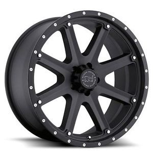 17 inch Black Rhino MOAB Matte Black Wheels Rims 6x5 5 FJ Cruiser Hummer H3