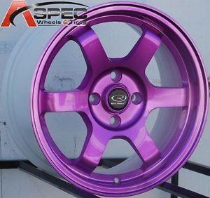 15x7 Rota Grid Wheels 4x100 Rims Fits 4 Lug Toyota Corolla 1993 2002