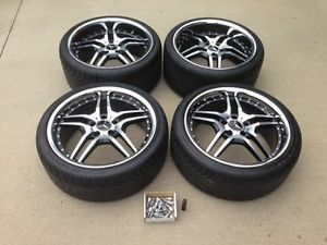 Mercedes Benz C300 19inch Staggered Wheel and Tire Complete Set with TPMS Sensor