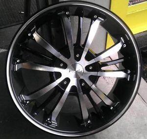 "18"" inch 5x110 5x115 Black and Machined Wheels Rims 5 Lug Chevy Pontiac Buick"