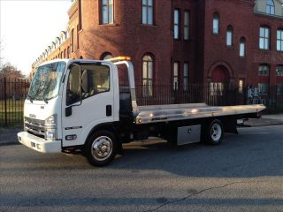 2008 Isuzu NRR Rollback Tow Truck Flatbed 19ft Jerr Dan Bed Wheel Lift 1 Owner