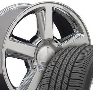 "20"" Chrome Tahoe Suburban Wheels Tires Fits Chevrolet GMC Cadillac"