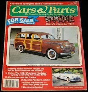 May 1986 Cars Parts Magazine 1941 Chevy Station Wagon 1954 Pontiac Star Chief
