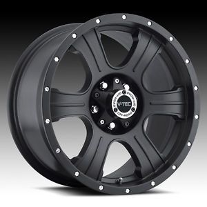 "16"" V Tec Assassin Matte Black Wheels Rims 5x4 5 5 Lug Jeep Wrangler TJ YJ"