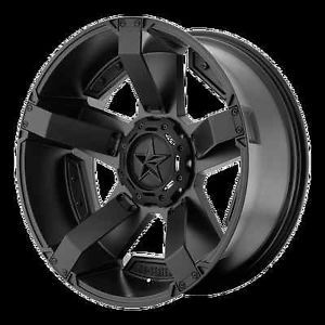 XD81122200744N KMC XD Series Rockstar RS2 22x12 Black 44mm Blank Wheels Rims