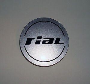 Rial N37 Aftermarket Wheel Center Cap Silver Black Custom Rim Hubcap Used