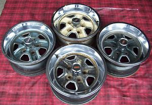 Oldsmobile Cutlass and 442 Rally Wheels Set of 4 15 x 7
