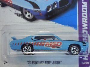 Hot Wheels 2013 '70 Pontiac GTO Judge B Case New