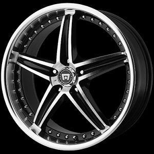 """16"""" x 7"""" Motegi Racing MR107 107 Black Wheels Rims 5 Lug 5x4 5 5x110 5x112 5x100"""
