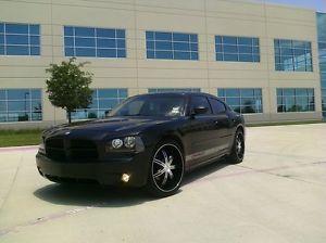 "22"" Black KMC Surge Wheels Tires 5x115 Dodge Charger Magnum Chrysler 300"