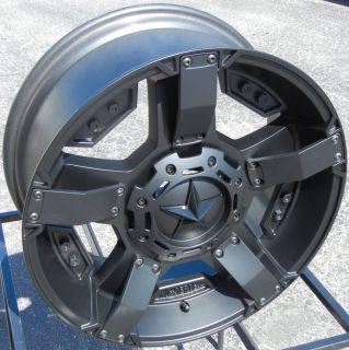 "20"" XD Rockstar 2 II Black Wheels Rims Chevy Silverado 1500 Ford F150 Expedition"