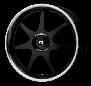 """18"""" x 7 5"""" Motegi Racing MR237 Black Wheels Rims 4x100 4x114 3 4 Lug 18 Inch"""
