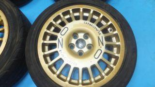 "JDM 16"" O Z Racing Rims Wheels 5x100 16x7 48 Subaru Toyota Impreza GC8 GDB Oz"