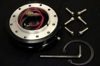 Acura Integra GSR DC2 350mm Deep Racing Leather Steering Wheel Quick Release Hub