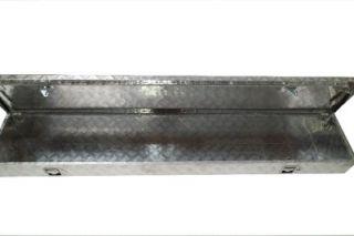 "72""L Aluminum Pickup Truck Side Mount Tool Box Storage"