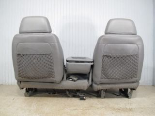 Chevy Silverado GMC Sierra Suburban Tahoe Front Gray 60 40 Truck Seat Console